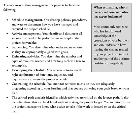 Key Areas of Time Management