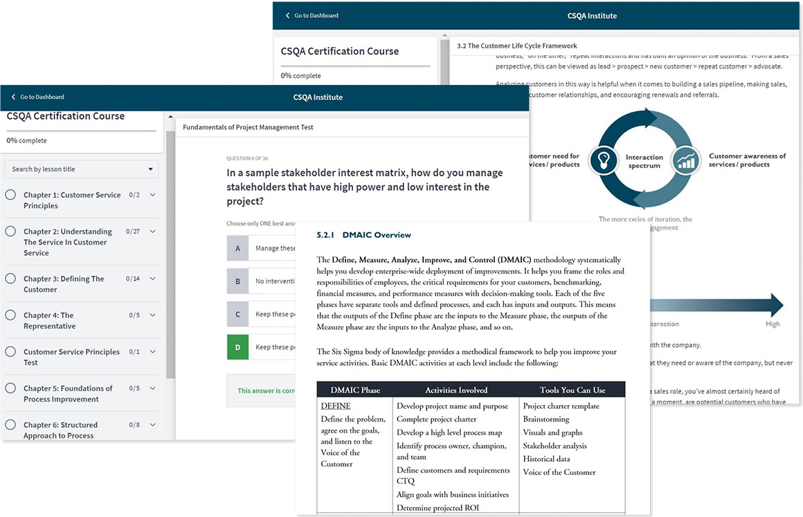 CSQA Online Portal Preview - Thinkific