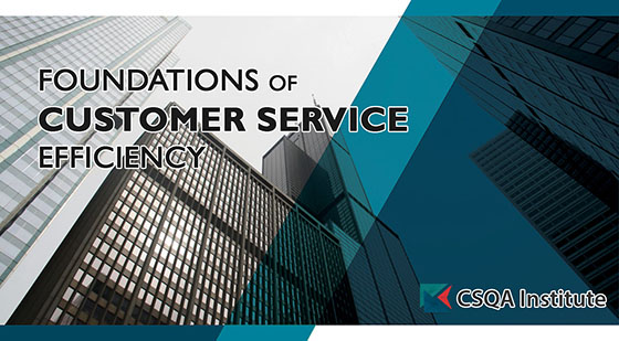 Foundations of Customers Service Efficiency course card
